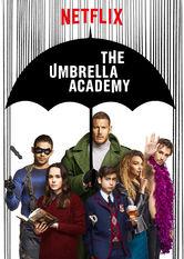 Kliknij by uszyskać więcej informacji | Netflix: The Umbrella Academy | Gdy obdarzone niezwykłymi mocami rodzeństwo spotyka się ponownie pośmierci ojca, najaw wychodzą szokujące rodzinne sekrety. Okazuje się też, że ludzkości grozi zagłada.