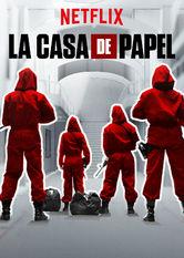 Kliknij by uszyskać więcej informacji | Netflix: Dom zpapieru / La casa de papel | Ośmioro przestępców barykaduje się zzakładnikami whiszpańskiej mennicy. W międzyczasie geniusz wśród złodziei manipuluje policją, byzrealizować swój plan.