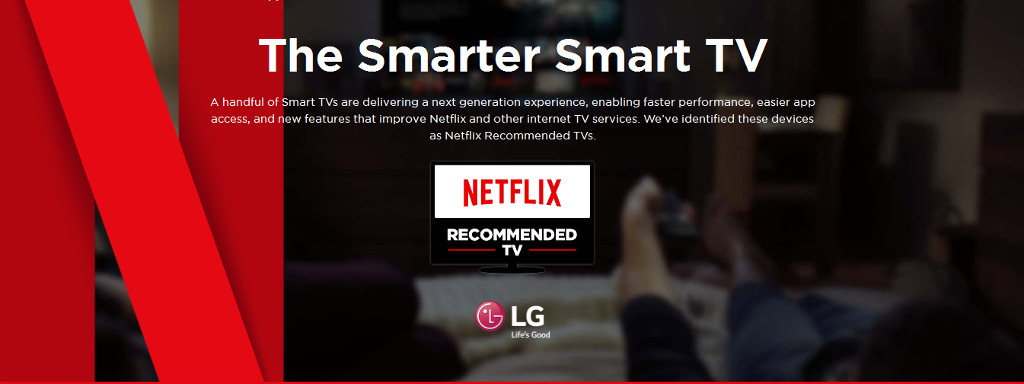 2018 Netflix Recommended TVs