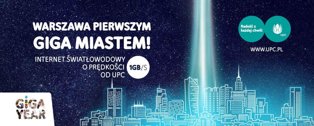UPC Polska - warszawa lacza 1gbit
