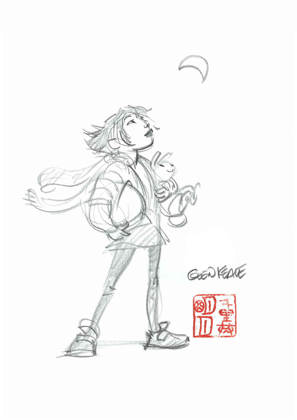 Glen_Keane _Even Though We Are Separated By Thousands of Miles, We Share The Same Moon